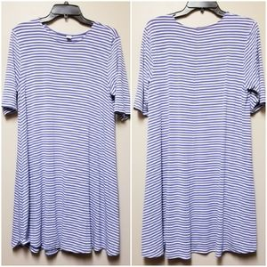 Old Navy Swing Dress Blue Stripes Large